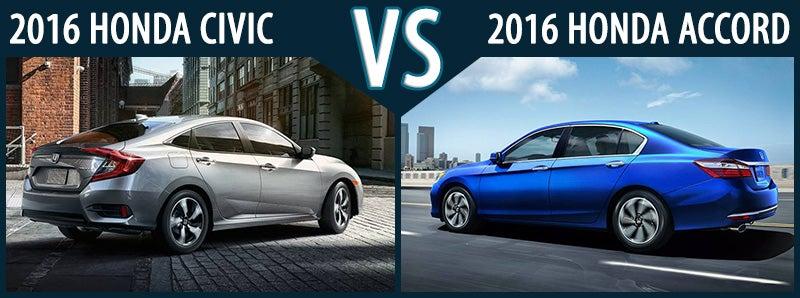 New 2016 Honda Civic Vs Accord